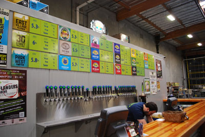 Green Flash Brewery tasting room