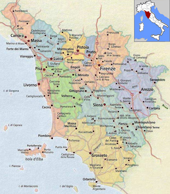 Tuscany Italy Map Of Area.The Fifty Best Wines Of Tuscany