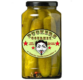 Puckers Super Full Garlic Sour Pickles