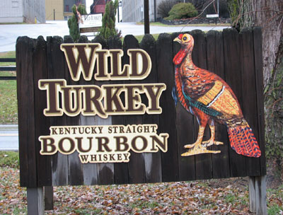 Wild Turkey distillery entrance