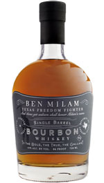 Ben Milam Single Barrel Bourbon Whiskey