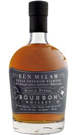 Ben Milam Single Barrel Bourbon Whiskey