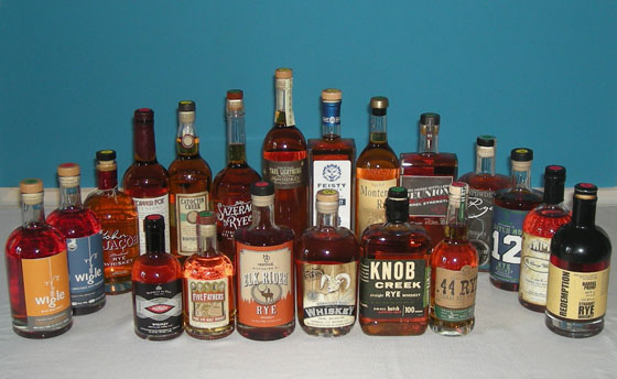 The Great Rye Whiskey Tasting of 2014