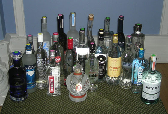 The Great Vodka Tasting of 2012