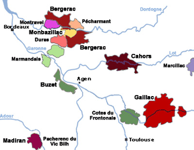 Cahors on map
