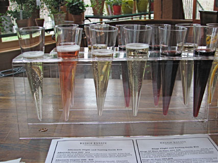 Kluge Estate Winery sparkling wine tasting