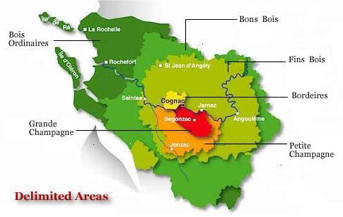 Delimited Areas of Cognac