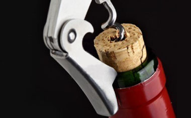 opening wine bottle