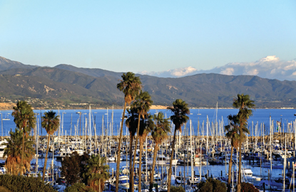 Santa Barbara Harbor coastline