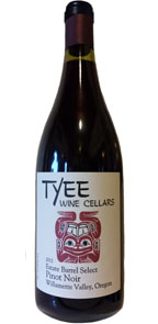 Tyee Wine Cellars 2012 Estate Barrel Select Pinot Noir