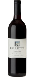 Balletto Vineyards 2012 Estate Grown Zinfandel
